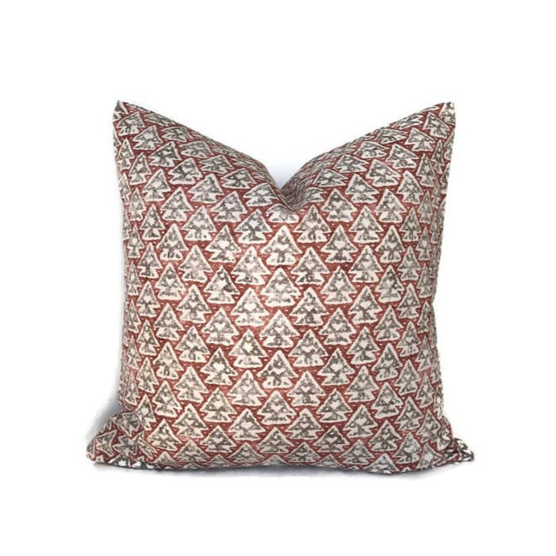 Zak and Fox La Tanrrilla Pillow Cover in Drago, Red Designer Pillow,  Decorative Throw Pillow Cover, Home Decor