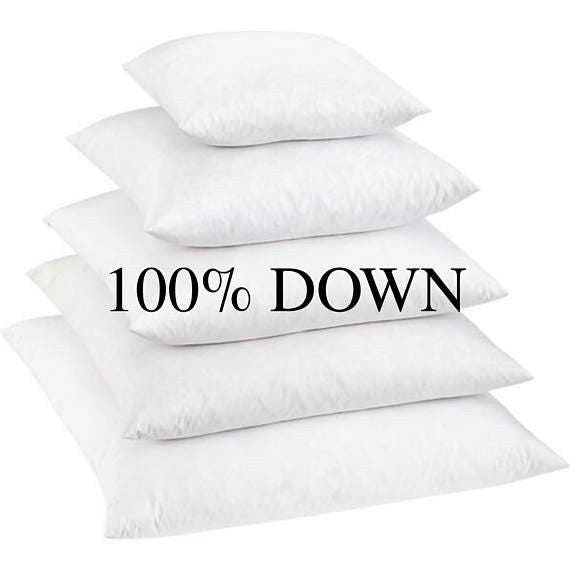 40% Down Pillow Inserts Down Pillows Down Pillow Inserts Etsy Amazing 100 Down Pillow Inserts
