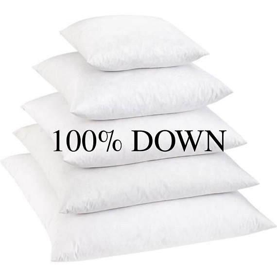 100% Down Pillow Inserts Down Pillows