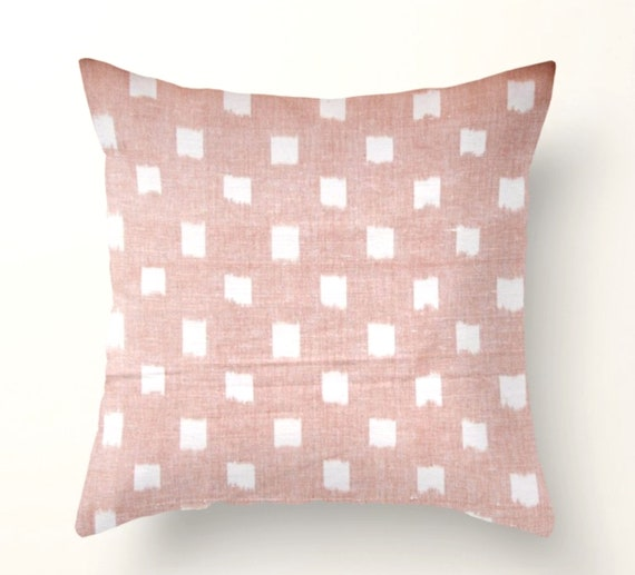 Rex Pillow Cover In Blush Pink Decorative Throw Pillows Etsy Simple Blush Pink Decorative Pillows