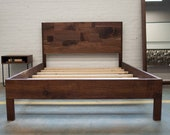 Solid Walnut Queen Bed with Frame and Headboard