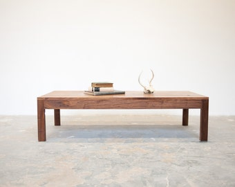 FREE SHIPPING Parsons Coffee Table   Solid Walnut