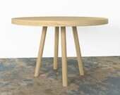 White Oak Round Dining Table FREE SHIPPING