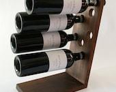 Walnut Wine Rack - Solid American Black Walnut - Table Top