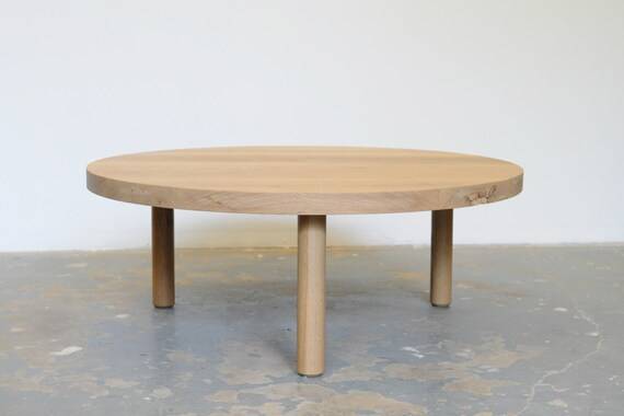 White Oak Coffee Table FREE SHIPPING Round Dylan Design Co.