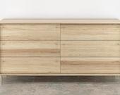 Lauren 6 Drawer Dresser- White oak solid wood Brass Hardware
