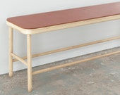 Maggie Bench- White Oak with Leather seat