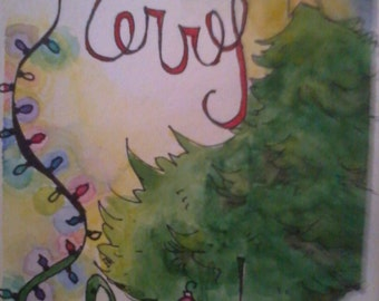 Merry Christmas Cards, set of 20