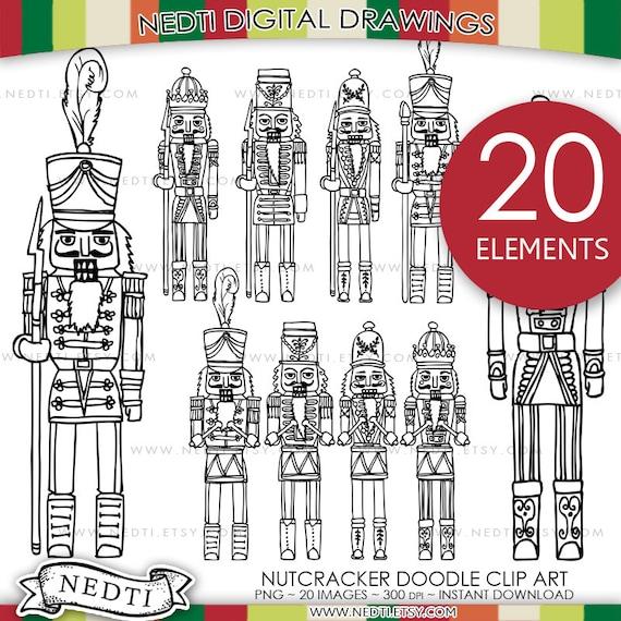 Doodle Cascanueces soldado Clip Art Clipart PNG 300dpi | Etsy