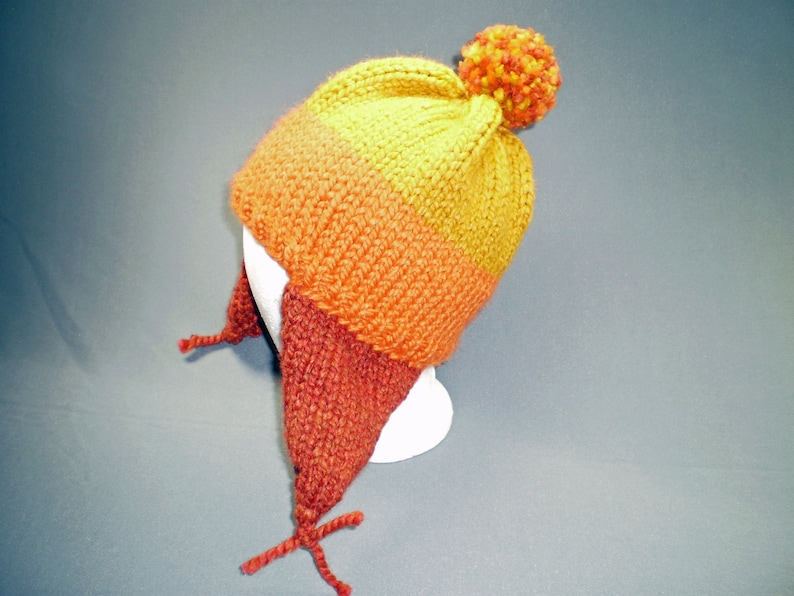 Wool Blend Firefly Inspired Cunning Hat in Yellow Orange and image 0