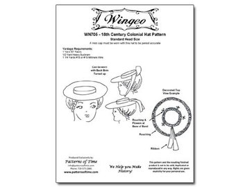 Colonial hat pattern  8acd63f1d39