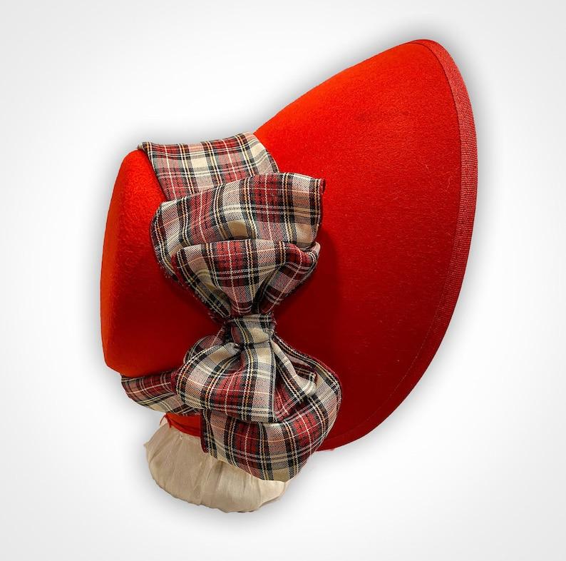 Victorian Hat History   Bonnets, Hats, Caps 1830-1890s Choose Your Color Victorian Carolers Bonnet with Plaid Ribbon $60.00 AT vintagedancer.com