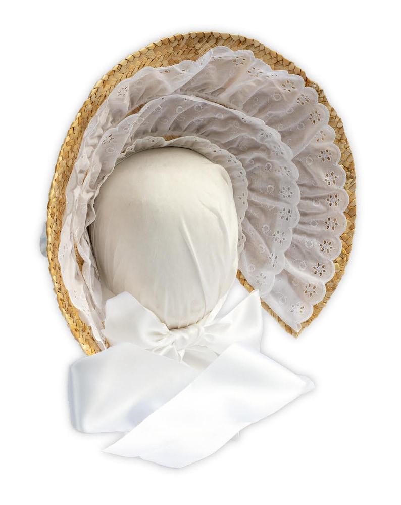 Victorian Hat History   Bonnets, Hats, Caps 1830-1890s Austentation Jane Austen Style Lace Trimmed Bonnet: Bo Peep (choose your color) $65.00 AT vintagedancer.com