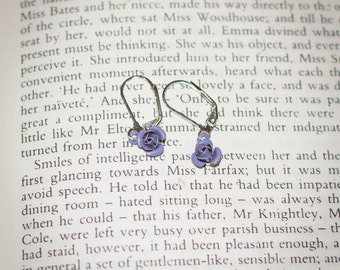 Jane Austen Regency Inspired Rose Earrings: Choose Your Color