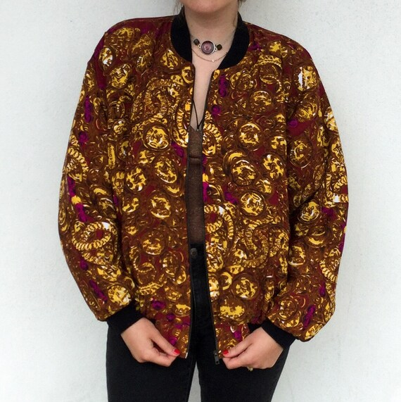 Amazing 1980's Chanel Designer Silk Bomber Jacket