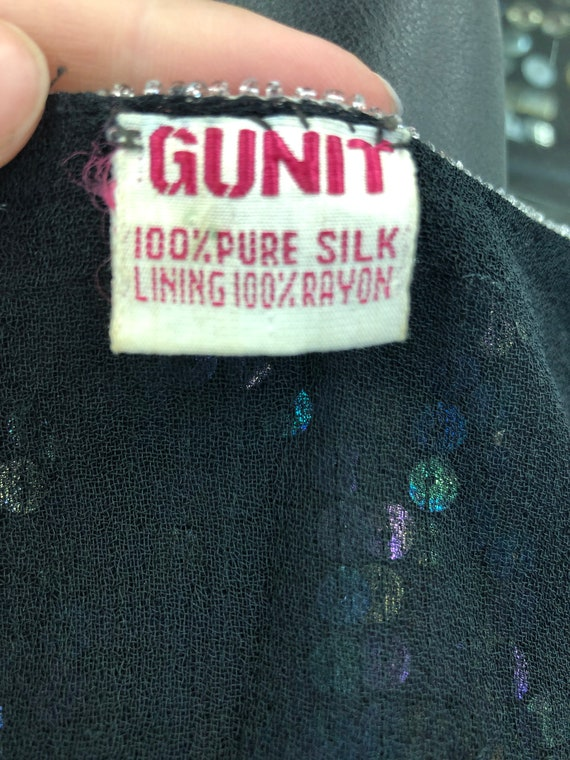 Vintage VTG 80s 1980s does 20s Silk Sequin Flappe… - image 3