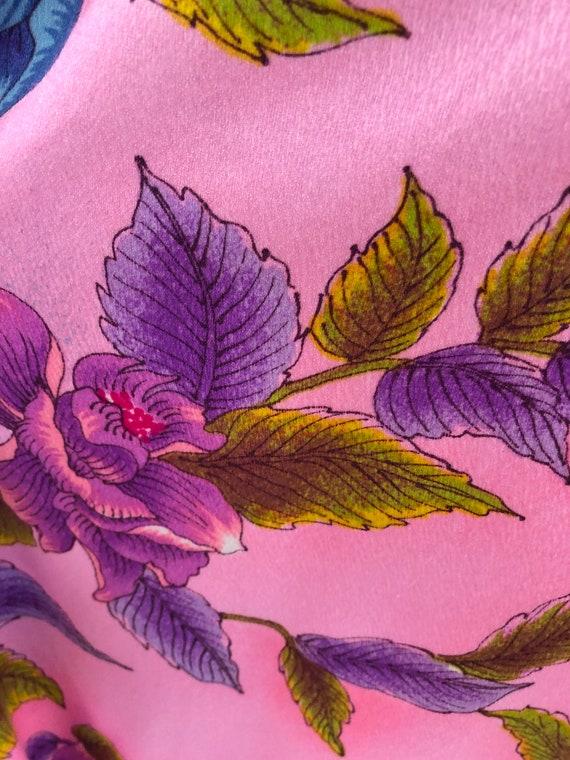 Vintage VTG 1970s 70s Pake Muu Pink Floral Patter… - image 6