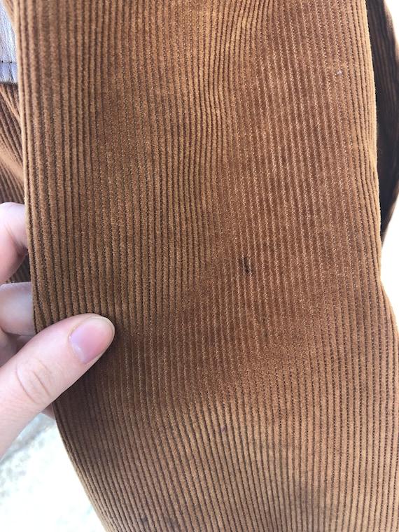 Vintage VTG 1970s 70s Brown Corduroy Leather Pion… - image 6