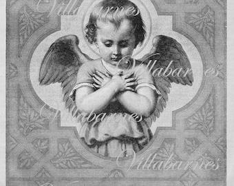 1800's Angel Image, Digital Download, Illustration Graphic