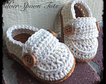 Baby Boy booties baby boy loafers newborn booties crochet baby shoes Ivory and rust