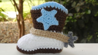 Baby Cowboy Boots, baby boots, boy cowboy boots, knit,Crochet Cowgirl Boots, Strap,Spurs, star Customizable