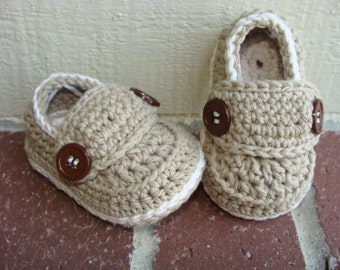 Baby Boy Loafers, Baby Booties,Crochet Loafers, Baby Boy Shoes, Crochet Baby Booties, Newborn Booties, 4 Sizes Choose any colors