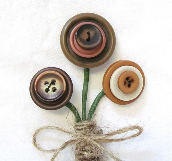 Items Similar To Button Boutonniere Wedding In Earth Tones