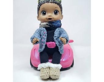 2108 PDF Instant Digital Download premature baby doll hat leggings jacket 9 to 16 inch