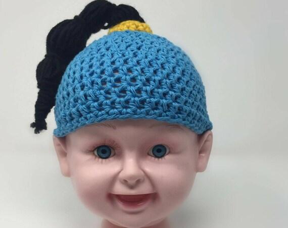 Blue Genie (Aladdin) crochet hat - character hat - gag hat