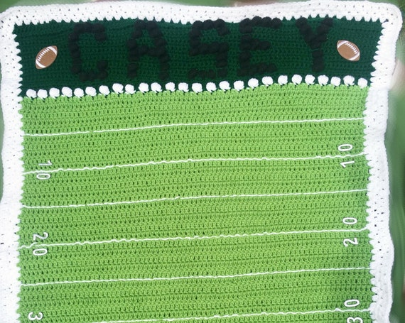 Personalized Football Field Baby Blanket