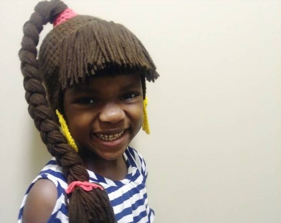 SheBang Hat - crochet wig hat- unique hat - ponytail hat - #shebanghat