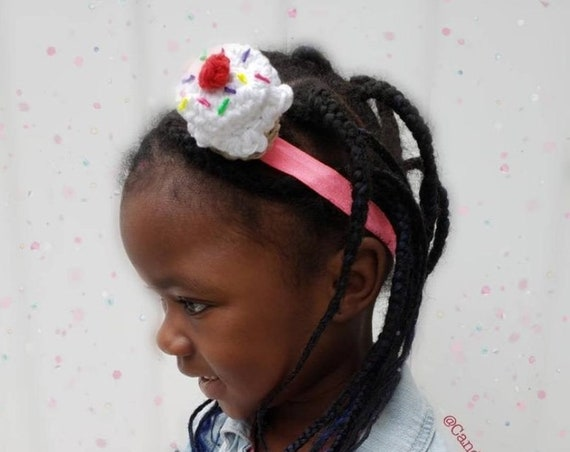 3D Cupcake Headband/Birthday Headband - One Size fits most Children to Adults