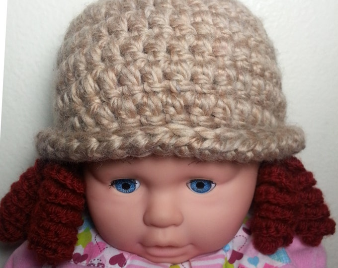 Shirley Temple Styled Hat, Crochet