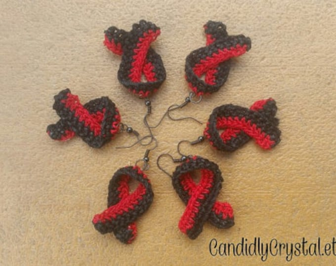 Awareness Ribbon Crochet Earrings