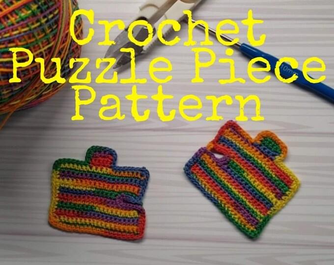 Crochet Puzzle Piece Applique Pattern
