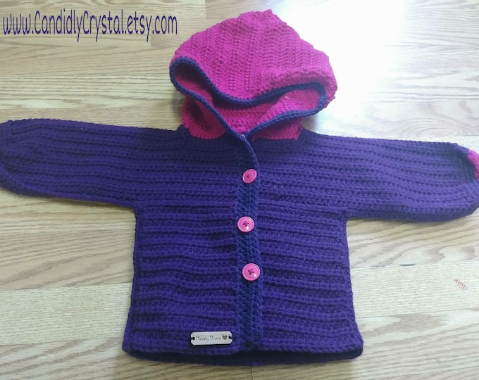Personalized Cardigan Ribbed Hoodie