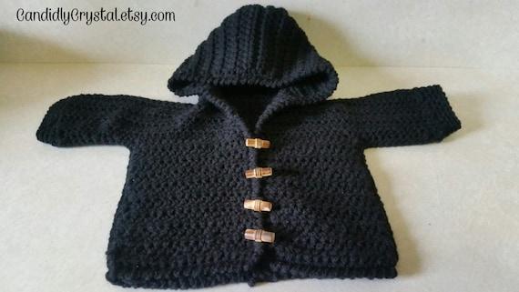 Crochet Cardigan Ribbed Hoodie