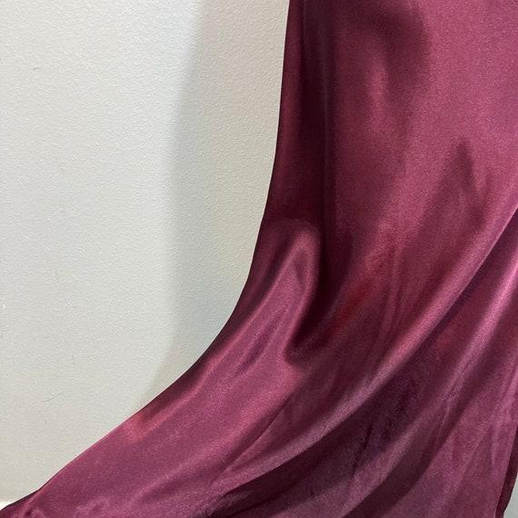 Vintage 1990's Halston Slip Dress Burgundy Silky … - image 10