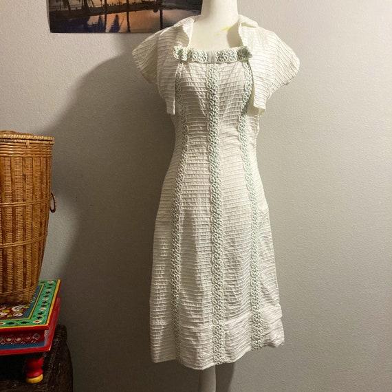 Vintage 1950's Dress and Jacket Set
