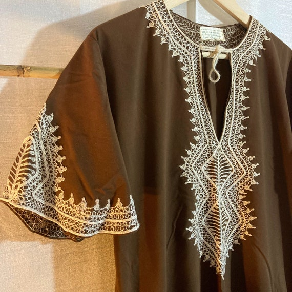 VINTAGE KAFTAN DRESS Cotton Embroidered Kaftan