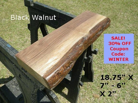 Live Edge Black Walnut Wood Slab Finished DIY Floating Shelf, Natural Edge  Shelving, Bathroom Shelf, Side Table, Table Top, Photo Ledge 0126