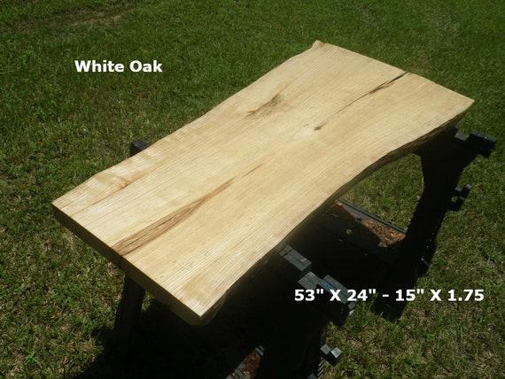 live edge white oak solid wood slab finished natural edge bar etsy rh etsy com white oak outdoor furniture finish white oak garden furniture