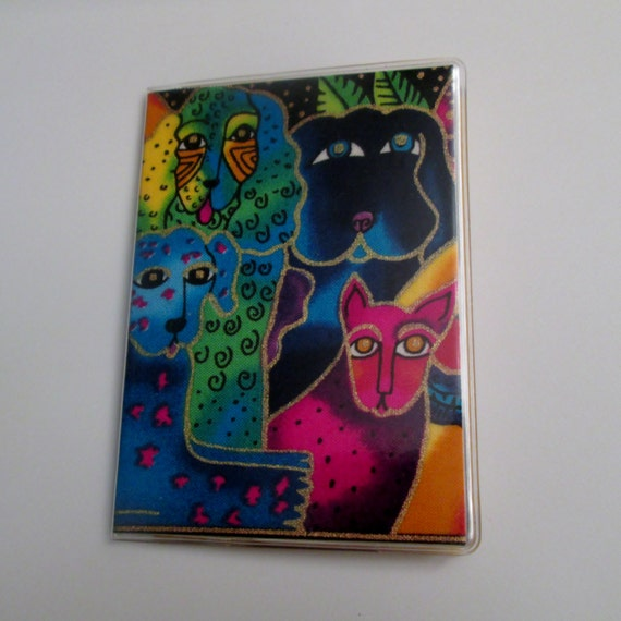 Laurel burch dogs doggies card wallet business card holder etsy image 0 colourmoves
