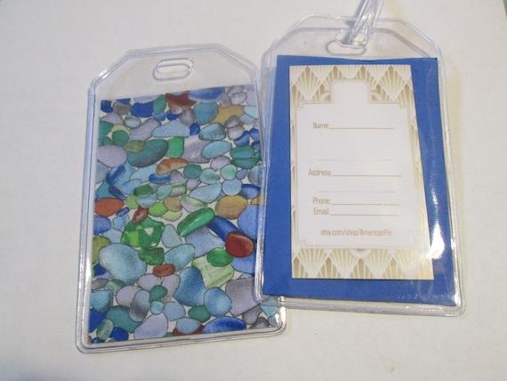 Sea Glass Seaglass Checkbook Cover Fabric with vinyl Custom Ocean Sea Beach Gift