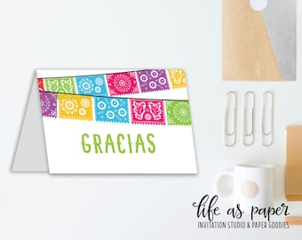 FIESTA - thank you cards - gracias - stationery - set of 20