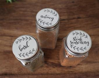 MINIMALIST spice stickers - 52 labels - waterproof