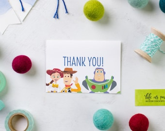 TOY STORY - thank you cards - birthday stationery - set of 20 note cards