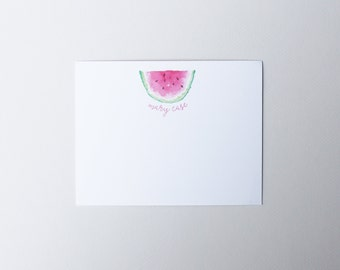 WATERMELON NOTECARD stationery - personalized note cards - pack of 24