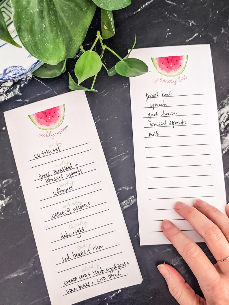 WATERMELON notepad  grocery list image 0