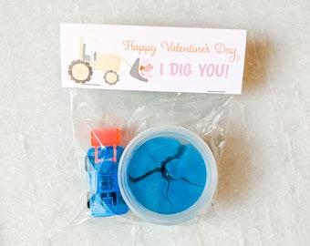 I DIG YOU - assembled Valentine